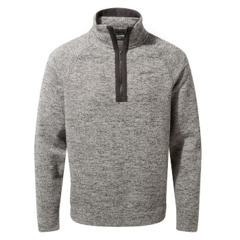 Men's Fernando Half-Zip Fleece - Black Pepper Marl