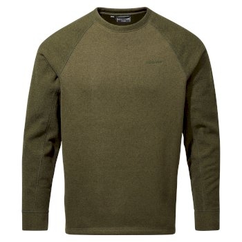 Men's Barker Sweatshirt - Dark Moss Marl