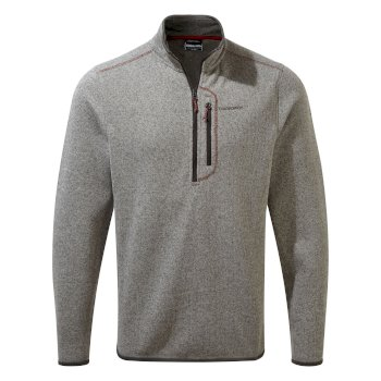 Men's Bronto Half Zip - Soft Grey Marl