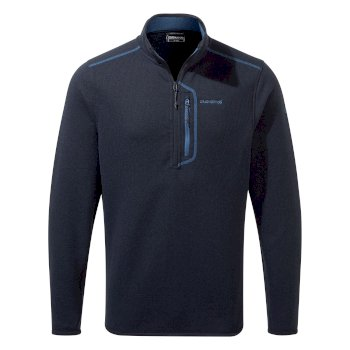 Men's Bronto Half Zip - Blue Navy Marl