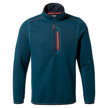 Men's Bronto Half Zip Fleece - Poseidon Blue Marl