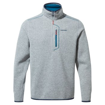 Men's Bronto Half Zip - Dove Grey Marl