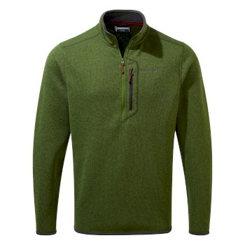 Men's Bronto Half Zip - Dark Agave Green Marl