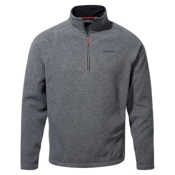 Men's Corey VI Half Zip Fleece - Black Pepper Marl
