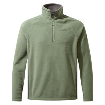Men's Corey VI Half Zip Fleece - Sage / Black Pepper Marl