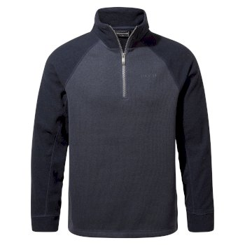 Men's Barker Half Zip - Steel Blue Marl