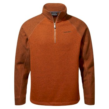 Men's Barker Half Zip - Potters Clay Marl