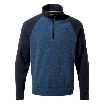 Turo Half Zip - Blue Navy / Delf Blue Stripe