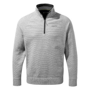 Turo Half Zip - Cloud Grey Stripe