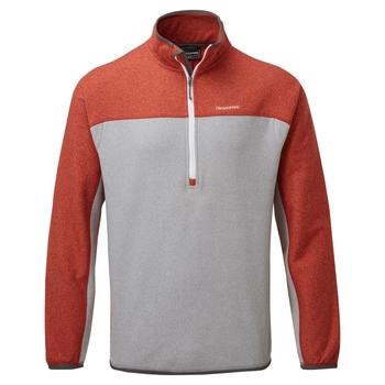 Men's Galway Half Zip Fleece - Pompeian Red / Cloud Grey