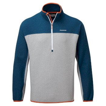 Men's Galway Half Zip Fleece - Poseidon Blue / Cloud Grey
