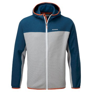 Men's Galway Hooded Jacket - Poseidon Blue / Cloud Grey