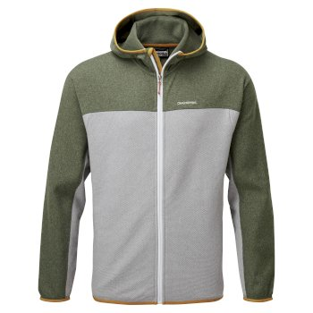 Men's Galway Hooded Jacket - Parka Green Marl / Cloud Grey