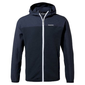 Men's Galway Hooded Jacket - Blue Navy Marl / Blue Navy
