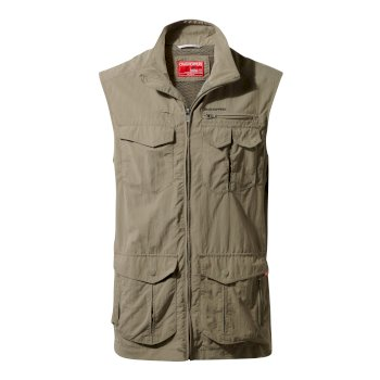 Men's Insect Shield® Adventure Gilet Pebble - Pebble