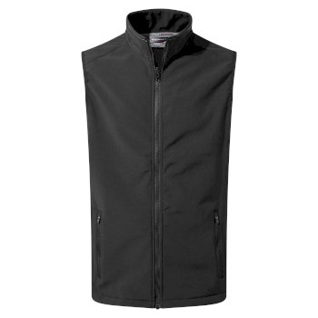 Mens Expert Essential Interactive Softshell Vest - Black