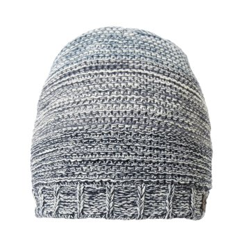 Rogan Knit Hat - Blue Navy Stripe Marl