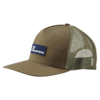 Mens Kiwi Trucker Cap - Dark Moss