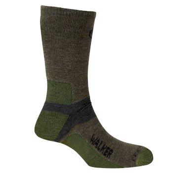 Mens Walking Sock - Olive Drab / Cedar / Black Pepper