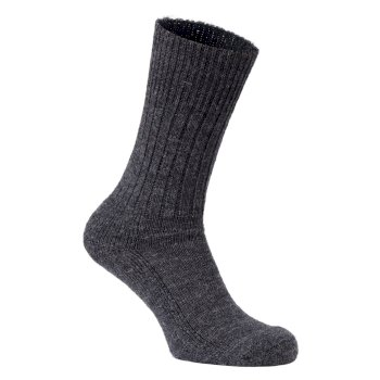 Mens Wool Hiker Sock - Black Pepper Marl
