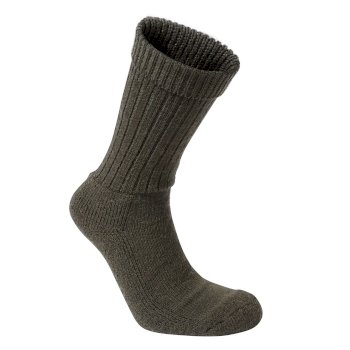 Mens Wool Hiker Sock - Woodland Green Marl