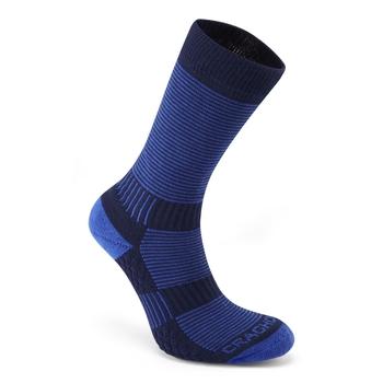 Heat Regulating Travel Sock - Bright Blue / Dark Navy