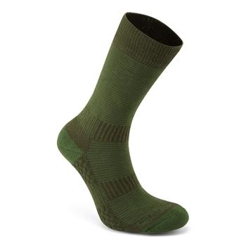 Heat Regulating Travel Sock - Spiced Lime / Dark Khaki