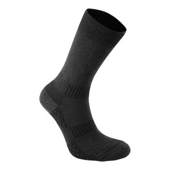 Heat Regulating Travel Sock - Black / Dark Grey