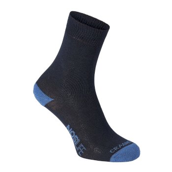 Single NosiLife Travel Sock - Dark Navy / Soft Denim