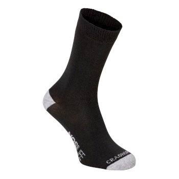 Single NosiLife Travel Sock - Charcoal / Soft Grey Marl