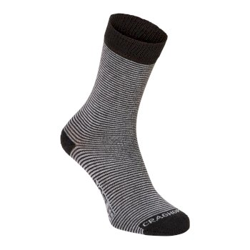 Mens NosiLife Twin Sock Pack - Charcoal / Soft Grey Marl