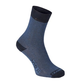 Mens NosiLife Twin Sock Pack - Dark Navy / Soft Denim Stripe