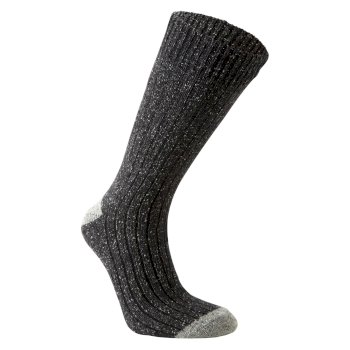 Glencoe Walking Sock - Dark Grey Marl