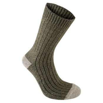 Glencoe Walking Sock - Dark Moss Marl