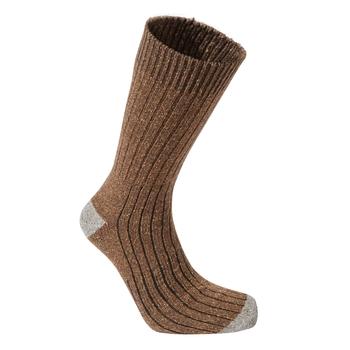 Glencoe Walking Sock - Ibex Brown