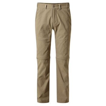 Men's Kiwi Pro II Convertible Trousers - Pebble