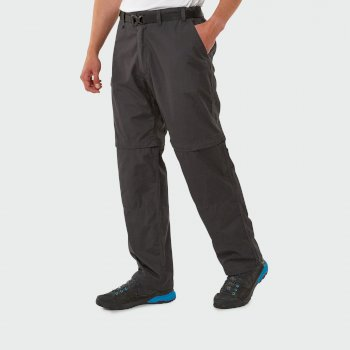 Kiwi Convertible Trousers - Black Pepper