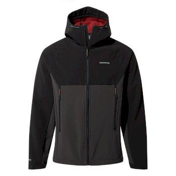 Trent Weatherproof Hooded Jacket - Black / Black Pepper