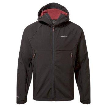 Trent Weatherproof Hooded Jacket - Solid Black/Auburn