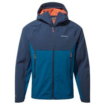 Trent Weatherproof Hooded Jacket - Blue Navy / Poseidon Blue