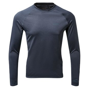 Nosilife Helio Long Sleeved Top - Blue Navy Marl
