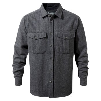 Dofri Wool Jacket - Dark Grey Marl