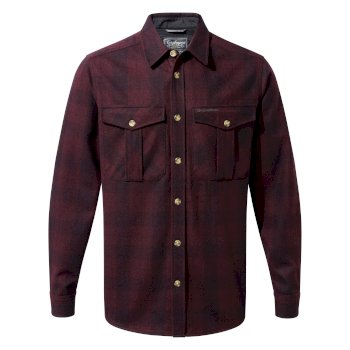 Dofri Wool Jacket - Dark Wine Check