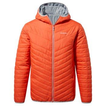 Compresslite V Hooded Jacket - Marmalade / Cloud Grey