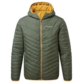 Compresslite V Hooded Jacket - Parka Green / Dark Butterscotch