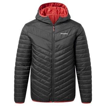 Compresslite V Hooded Jacket - Black / Pompeian Red