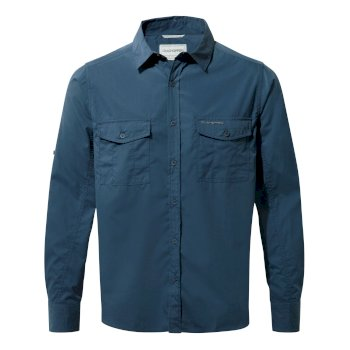 Kiwi Long-Sleeve Shirt - Faded Indigo