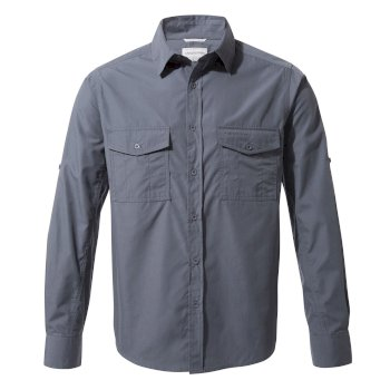 Men's Kiwi Long-Sleeved Shirt - Ombre Blue