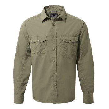 Men's Kiwi Long-Sleeved Shirt - Pebble