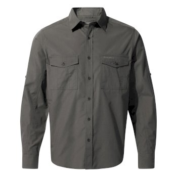 Men's Kiwi Long-Sleeved Shirt - Dark Grey